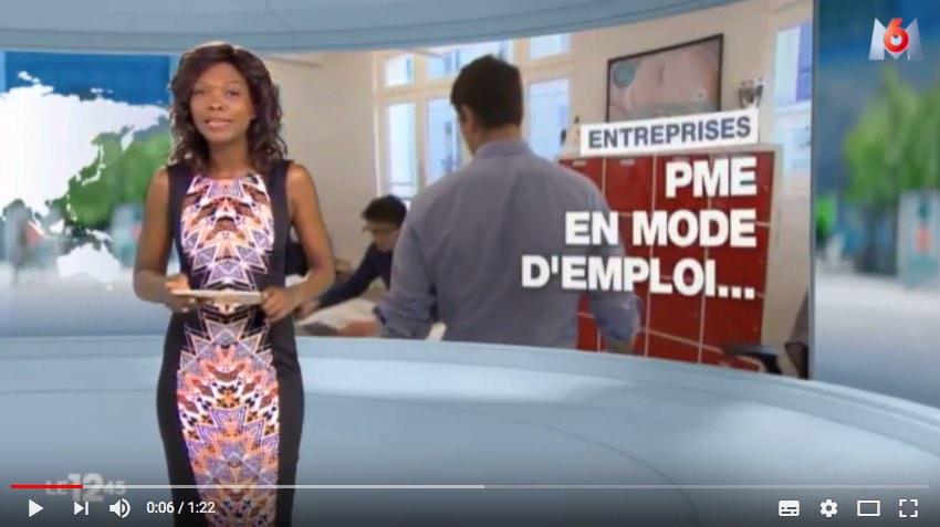 Capture d'écran du reportage télé sur M6 expliquant le service maplaceencrèche