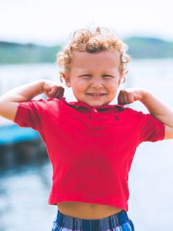 Un enfant fort et fier