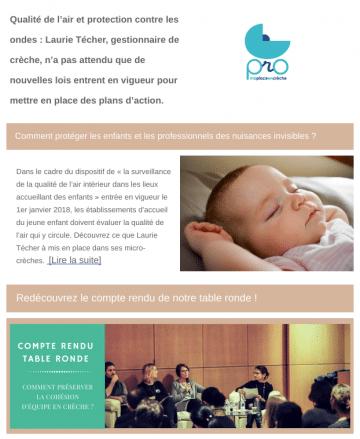 Newsletter PRO pour les professionnels de la petite enfance