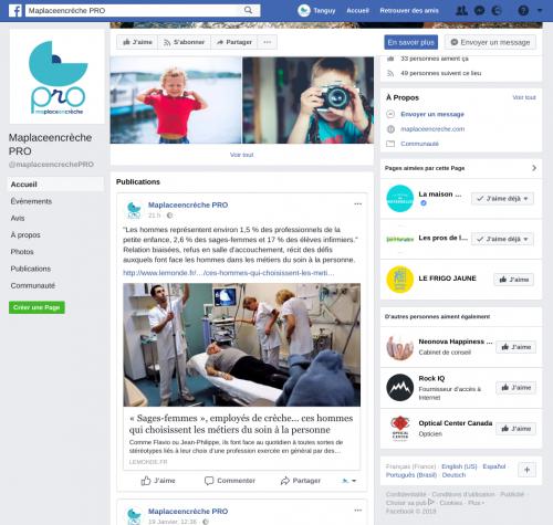Facebook PRO pour les professionnels de la petite enfance